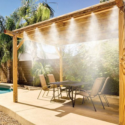 Don't let the heat keep you indoors. Cool off on your porch or patio with this handy outdoor misting system.
