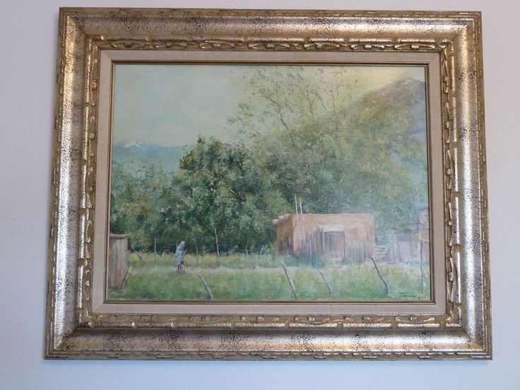 Dee Toscano Original Oil Painting Signed Taos NM 1973 Southwestern Framed Art
