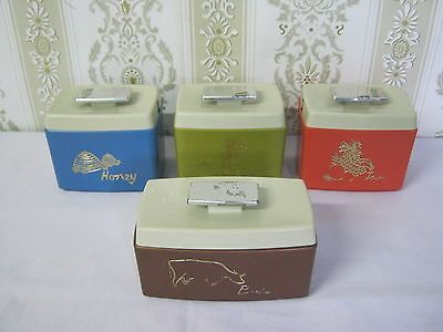 Retro Vintage Nylex Harlequin Table Set Canisters 4 Piece,