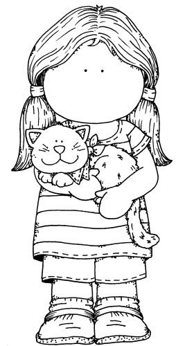 Girl and Kitty http://www.pinterest.com/bluepaintblue/patterns-coloring-pages-and-more/