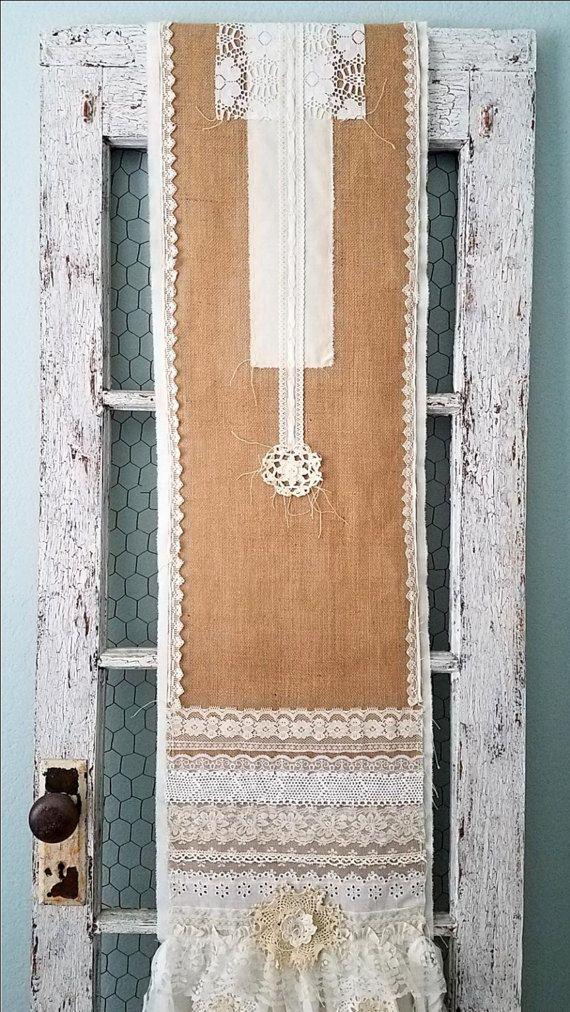 Tabel doek Runner jute & Lace tabel Runner Lace Table Cloth