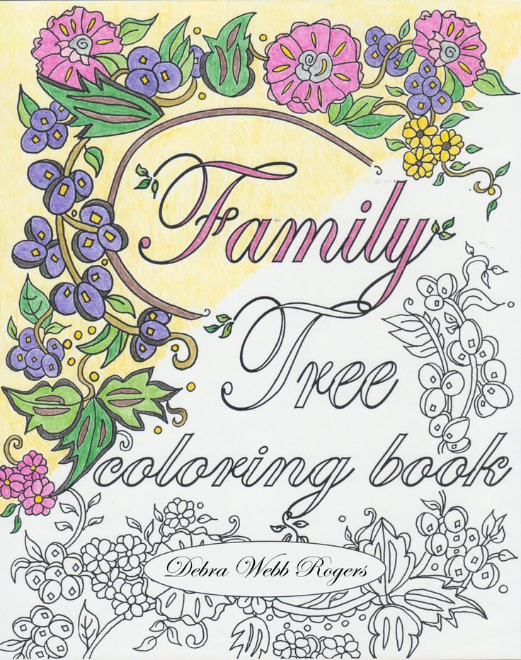 a keepsake coloring book for recording family history information along with beautiful designs to color - Publish Your Own Coloring Book
