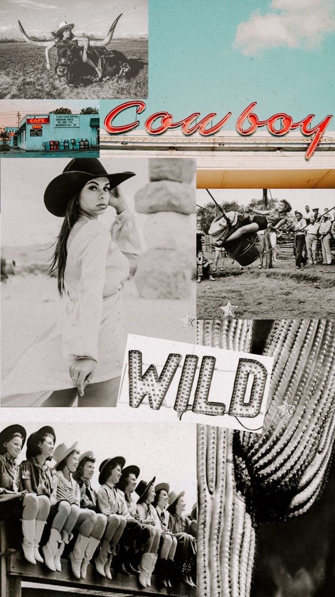 Wild Western Women Western Wall Art Art Collage Wall Picture Collage Wall