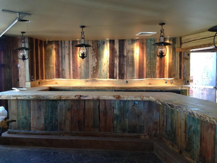 Brewer's Bar repurposed wood from the Angora