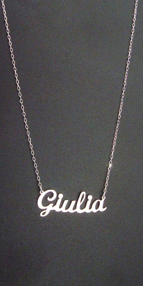 Collana NOME Giulia Oro Bianco Kt NOMISSIMO AU01WGI74