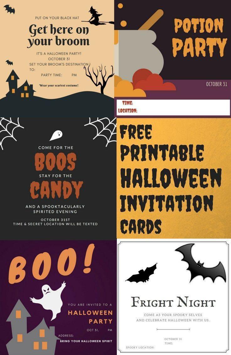 free printable halloween invitation cards paper scrapbook crafts