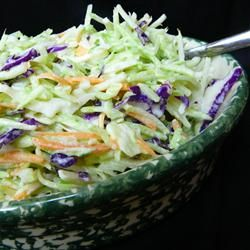 "Brookville Hotel Sweet and Sour Coleslaw | ""The dressing is so good that my family commented that they would like it as a salad dressing. I liked that the leftovers didn't get soggy and were great packed in lunches the next day."" http://allrecipes.com/Recipe/Brookville-Hotel-Sweet-and-Sour-Coleslaw/Detail.aspx"