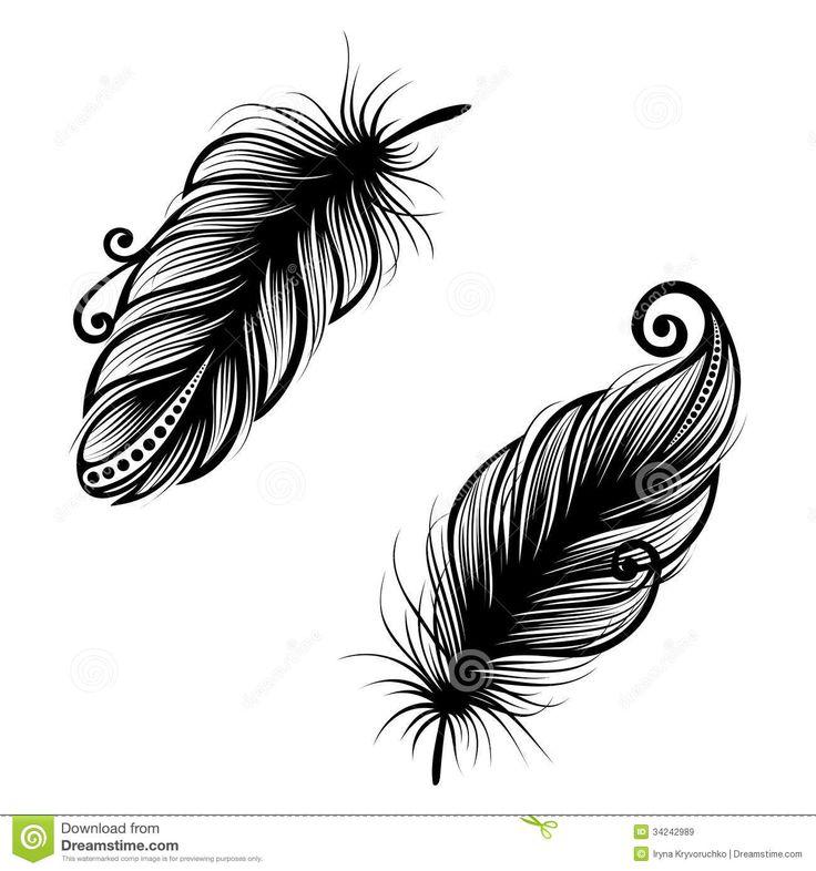 Les 25 meilleures id es concernant dessin plume sur pinterest tatouage plume plume et - Tatouage de plume ...