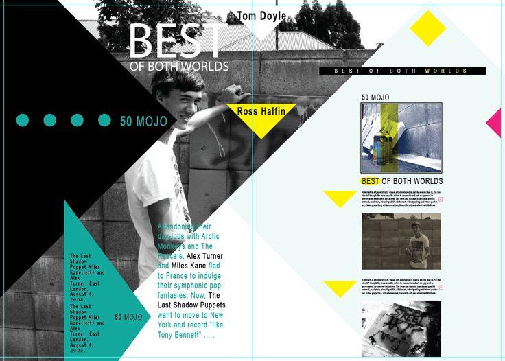 Magazine Layout My Designs Pinterest Layout