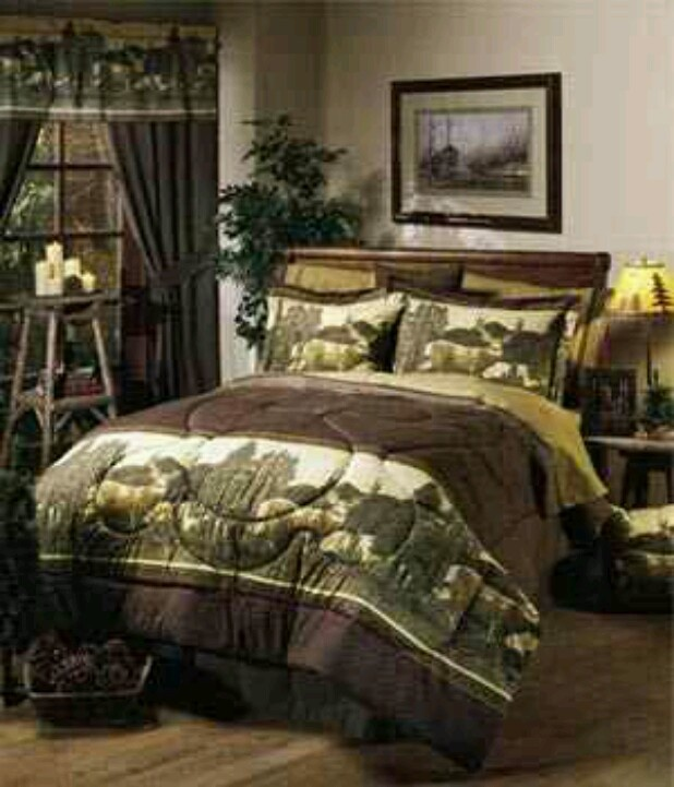 deer and camo themed bedroom