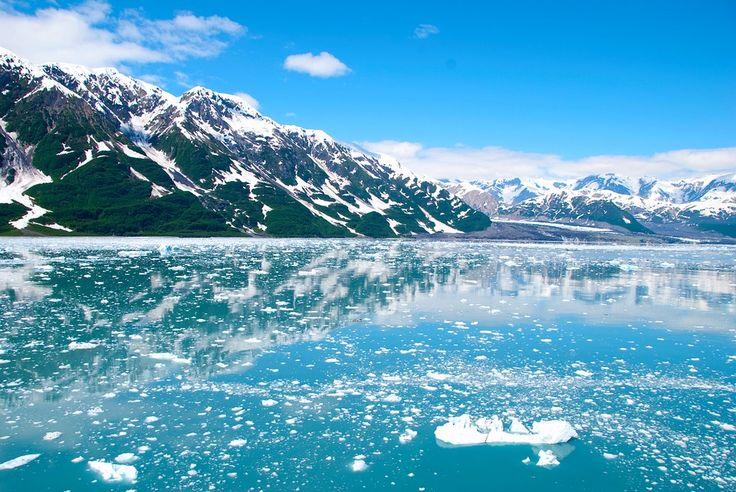 Alaska ice from glaciers