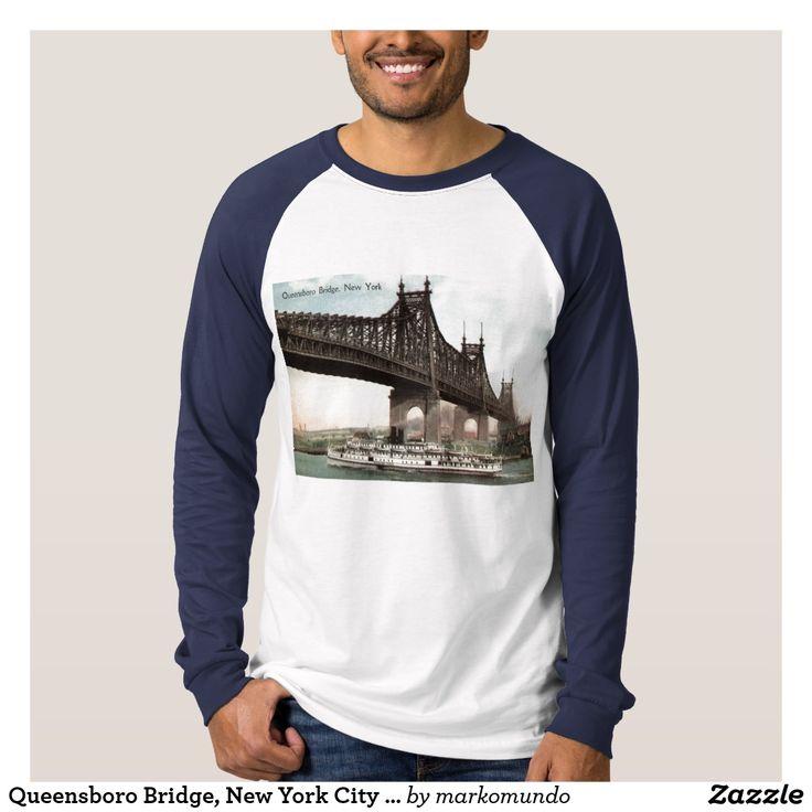 Queensboro Bridge New York City 1915 Vintage T Shirt