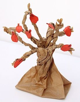 paper bag apple tree: paper bag apple tree