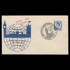 Great Britain 1957 (FDC) 4d Parliamentary Conference