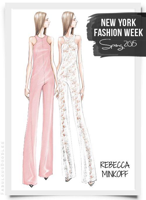 Fabulous Doodles Fashion Illustration blog by Brooke Hagel: NYFW Designer Sketches Spring 2015 (Part 1)