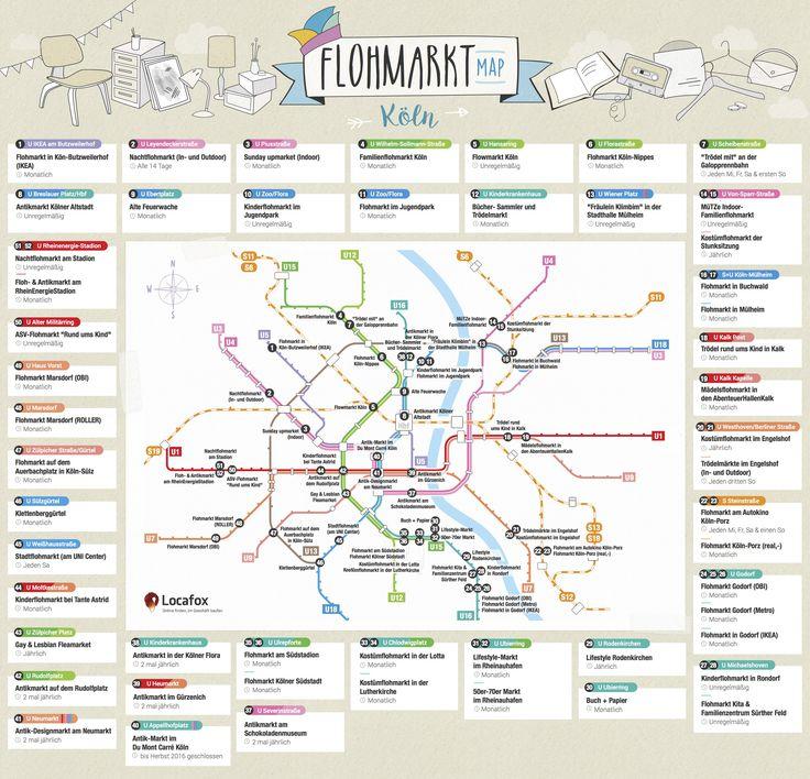 Wo und wann ist wieder Flohmarkt in Köln? Ob Kinderflohmarkt, Kostümflohmarkt, Mädelsflohmarkt oder Nachtflohmarkt - hier gibt es die Flohmarkt Map!
