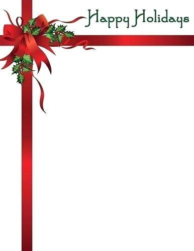 stationery templates free christmas christmas border