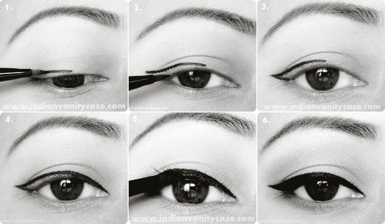 60s cat eye tutorials