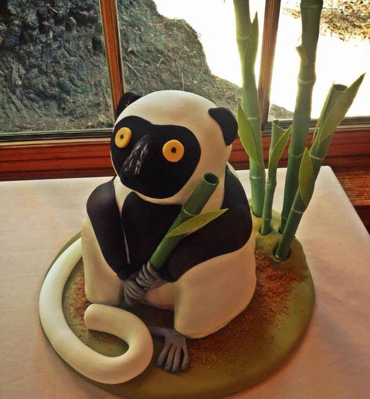 Sifaka lemur groom's cake!