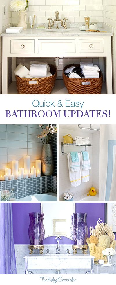 Quick and Easy Bathroom Updates • Tips & Ideas!