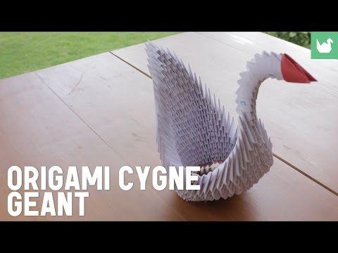 Origami : Cygne géant en papier - HD - YouTube