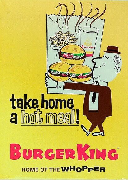Burger King ad (1961).                                                                                                                                                     More