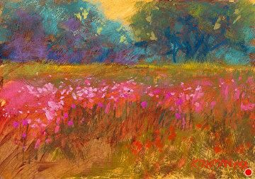 Wildflower Field #34 by Rita Kirkman Pastel ~ 5 x 7 inches