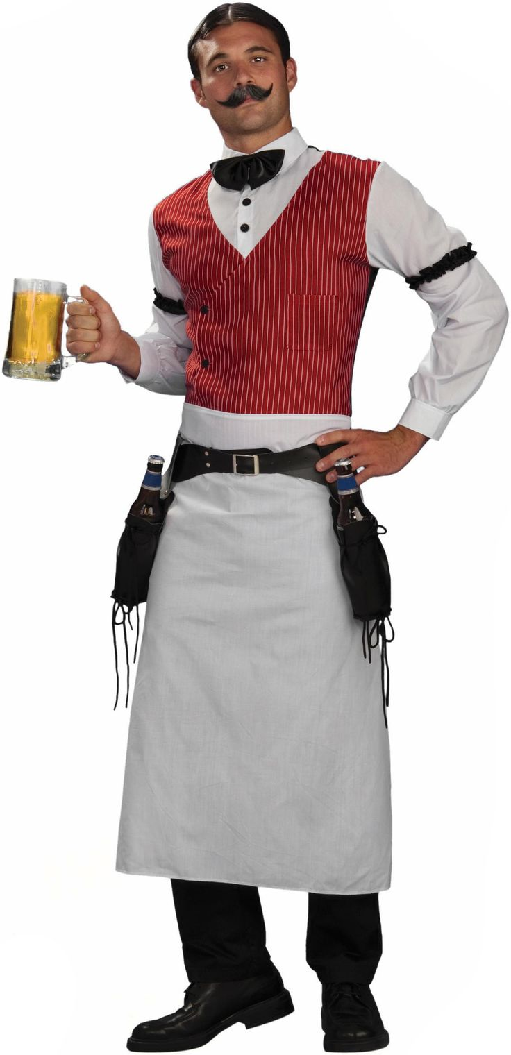 With this costume you'll look like a authentic barkeep at a western saloon.