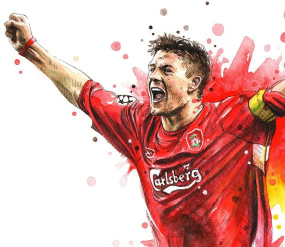 This is Steven Gerrard Liverpool FC Football Posters of my original Watercolor Painting. See more Art Print Posters with Liverpool FC. https://www.etsy.com/shop/NazarArt/search?search_query=Liverpool These Wall Art Print Poster will be perfect for your interior design, as well as for