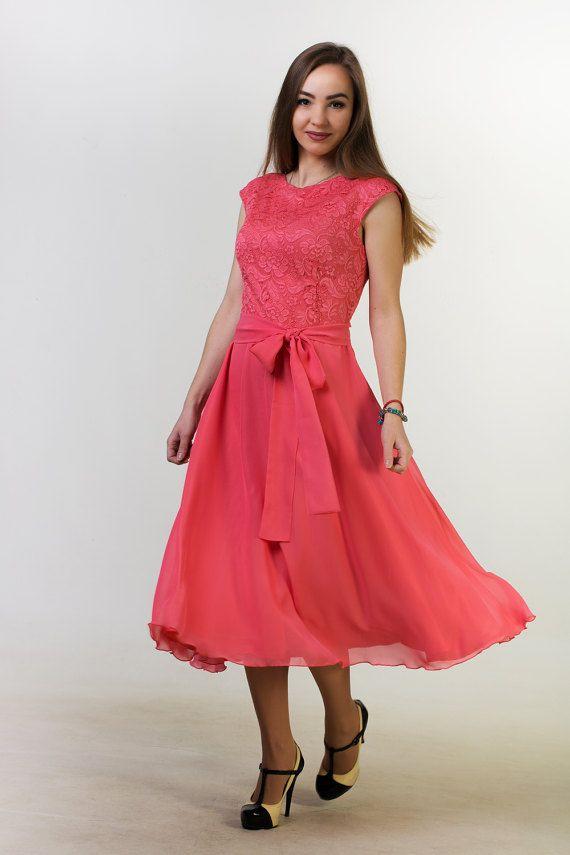 Corto coral vestido coral corto satén vestido de Dama de honor