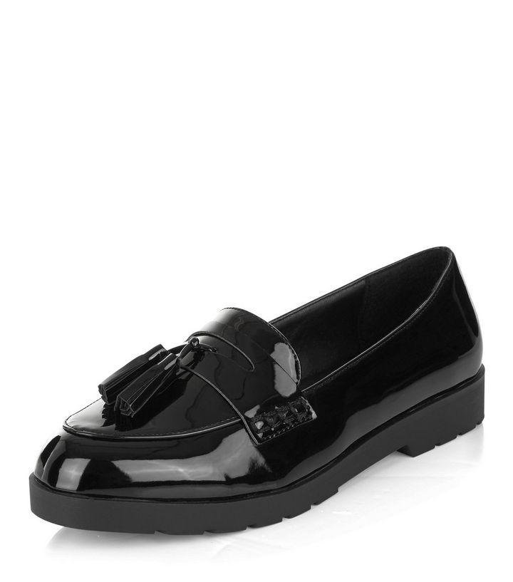 Black Patent Loafers | New Look