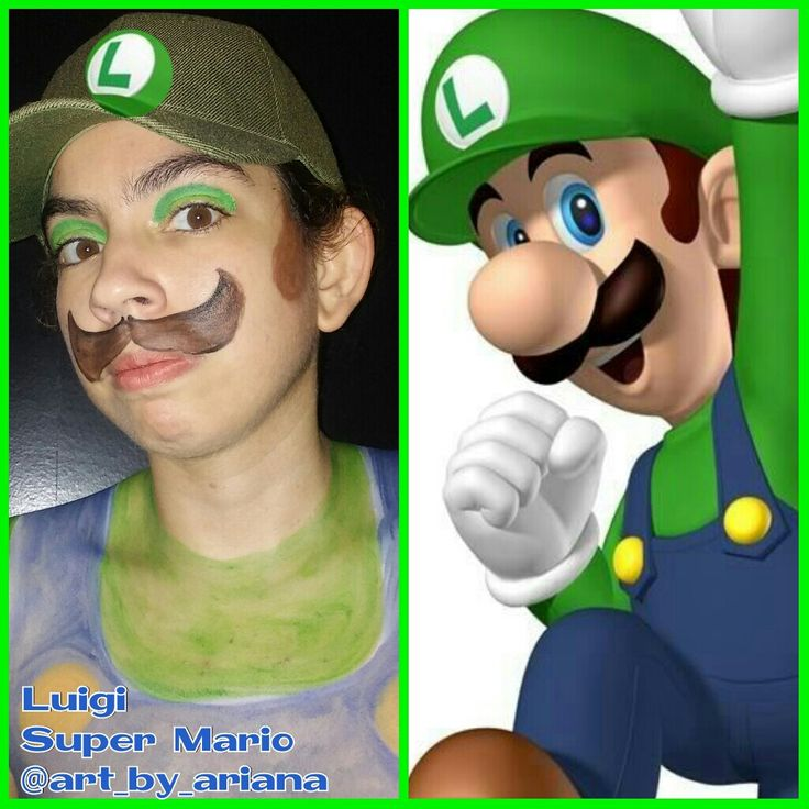 Pin On Super Mario Face And Body Paint