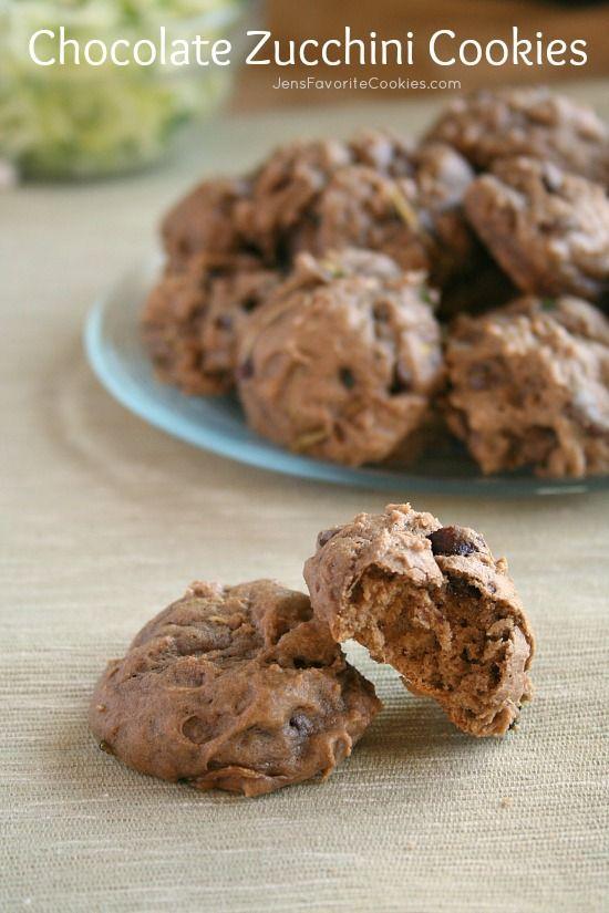 Chocolate Zucchini Cookies from JensFavoriteCookies.com