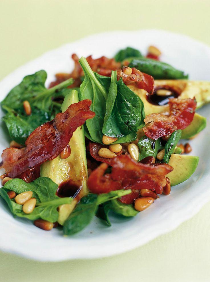 avocado, pancetta & pine nut salad | Jamie Oliver | Food | Jamie Oliver (UK) - Just use a paleo dressing