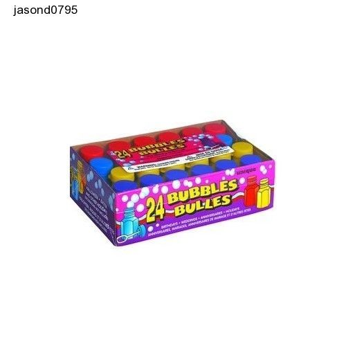 Party Bubbles - 4 Assorted Colours - 24 pack Valantines Day Fun Celerbrations