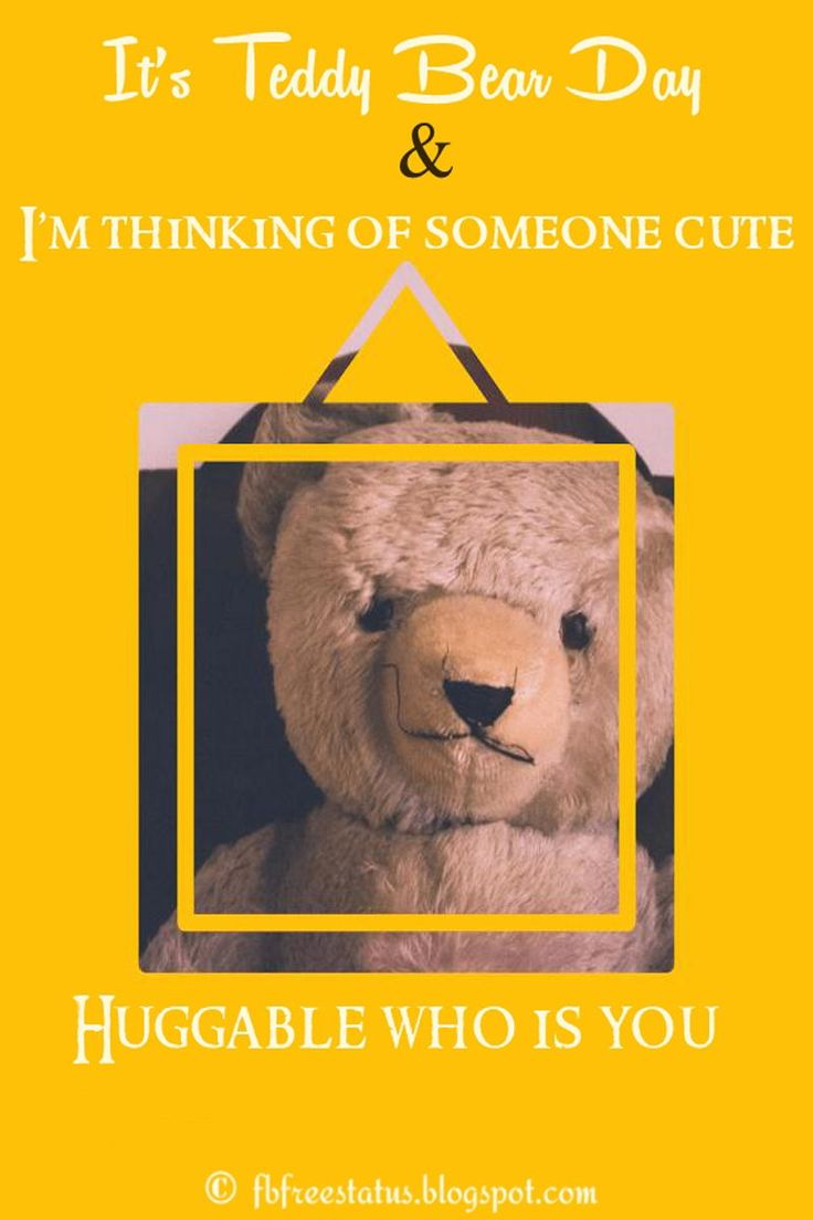 Cute Teddy Bear Day Quotes And Messages