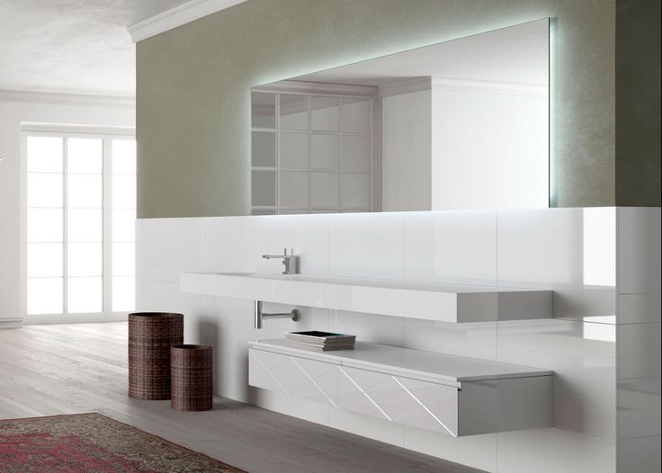 Artelinea's stylish white bath vanity / Regolo Collection