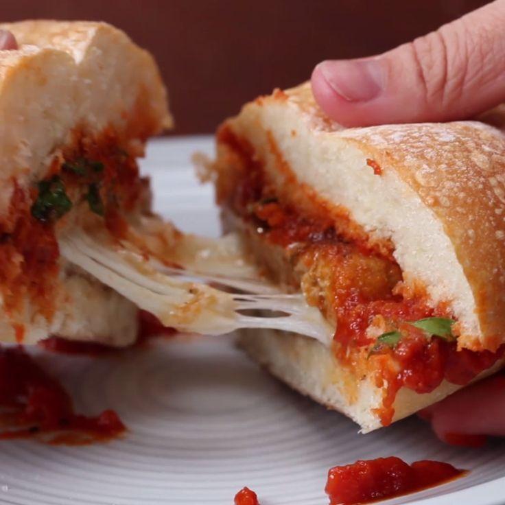 Cheesy Chicken Parmesan Burger