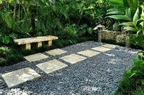 Courtyard, Bench, Asian, Lantern Small Yard Landscaping Craig Reynolds Landscape Architecture Key West, FL