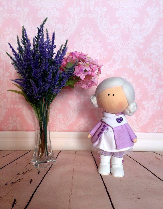 Doll Mika. Tilda doll. Textile doll. Soft toy. Cute by OwlsUa