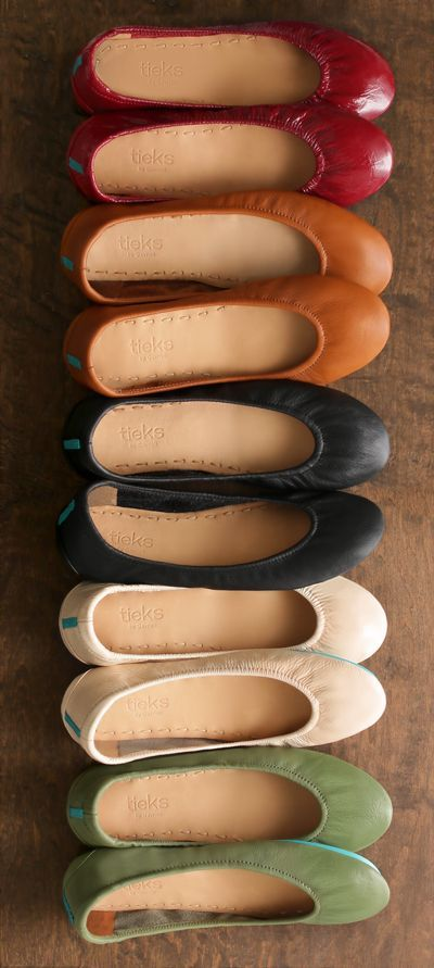 With a soft leather upper and classic silhouette, Tieks Ballet Flats are the perfect shoe for fall!