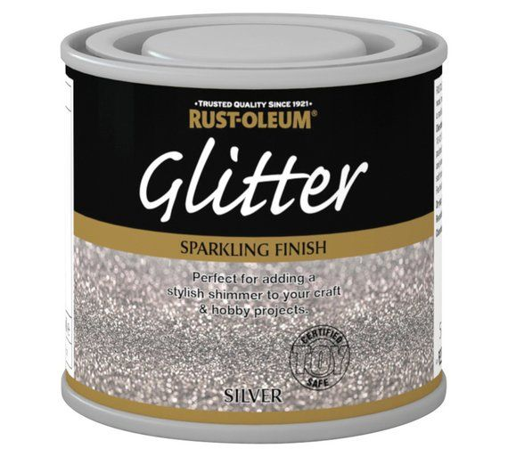 Buy Rust-Oleum Glitter Special Effect Paint 125ml - Silver at Argos.co.uk, visit Argos.co.uk to shop online for Paint, Wallpaper, painting and decorating, Home improvements, Home and garden