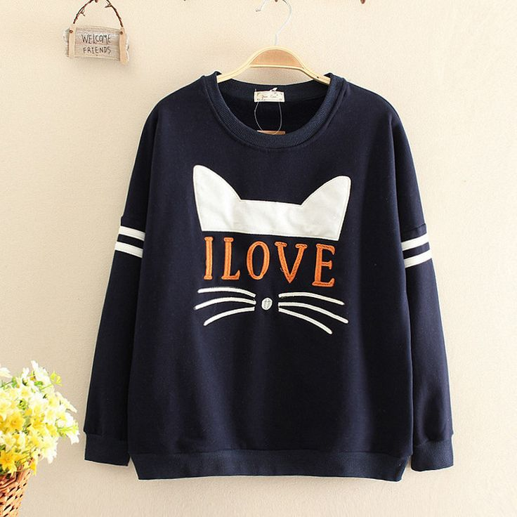 "I love cat sweatshirts Cute Kawaii Harajuku Fashion Clothing & Accessories Website. Sponsorship Review & Affiliate Program opening!Great design call you bf now .use this coupon code ""pinscute"" to get all 10% off shop now for lowest price."