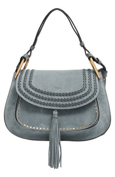 Chloe \u0026#39;Hudson\u0026#39; Studded Suede Shoulder Bag | Chloe, Shoulder Bags ...