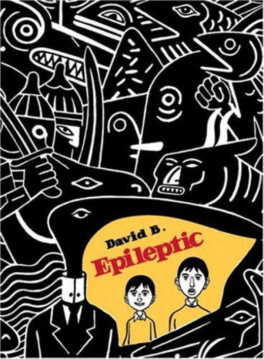 Epileptic by David B.  David B. is one of France's most influential comic artists, and this book compiles six volumes of his work about growing up with an epileptic brother, with a wider perspective on the toll it takes on his family.