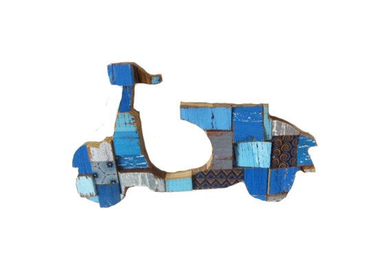 Scooter Blocks Blue by PhilosophieBySophie on Etsy