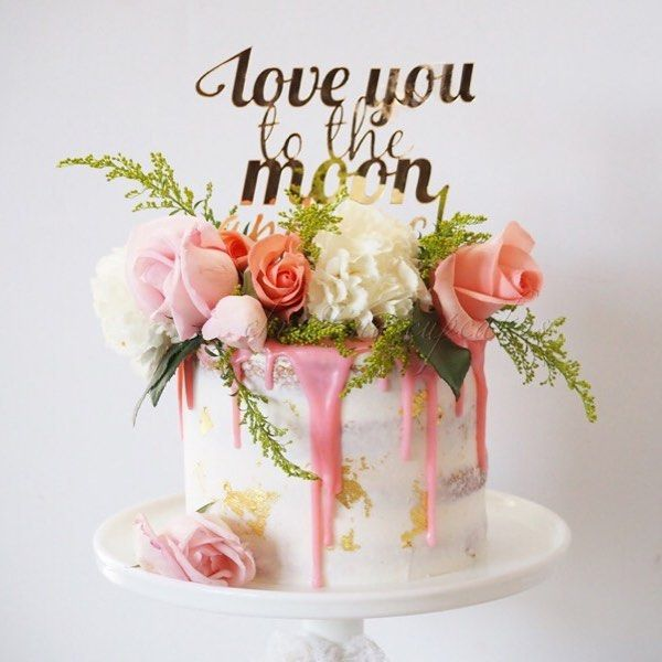 Best 25+ Fresh Flower Cake Ideas On Pinterest