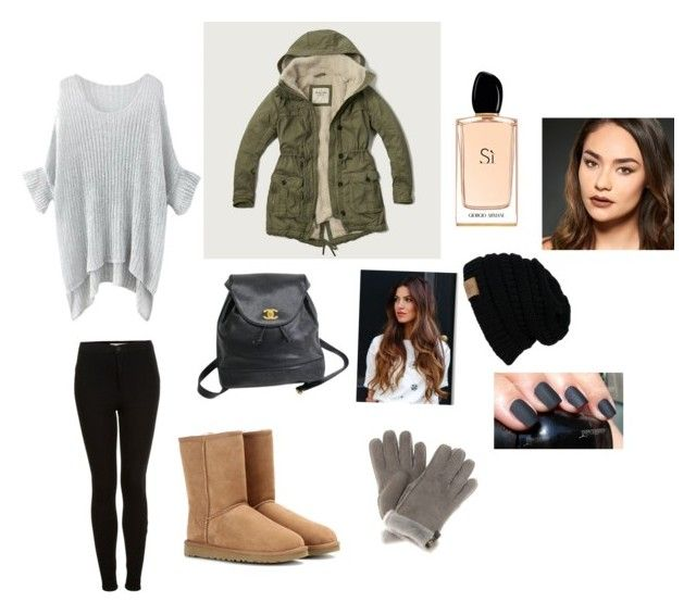 """""""Untitled #3"""" by maah200802 on Polyvore featuring Topshop, UGG Australia, Abercrombie & Fitch, Chanel, Giorgio Armani and Urban Decay"""