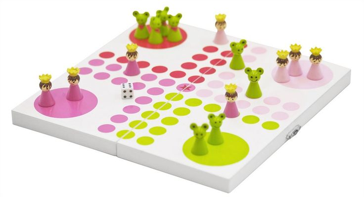 Princess- Classic Wooden Ludo Game.