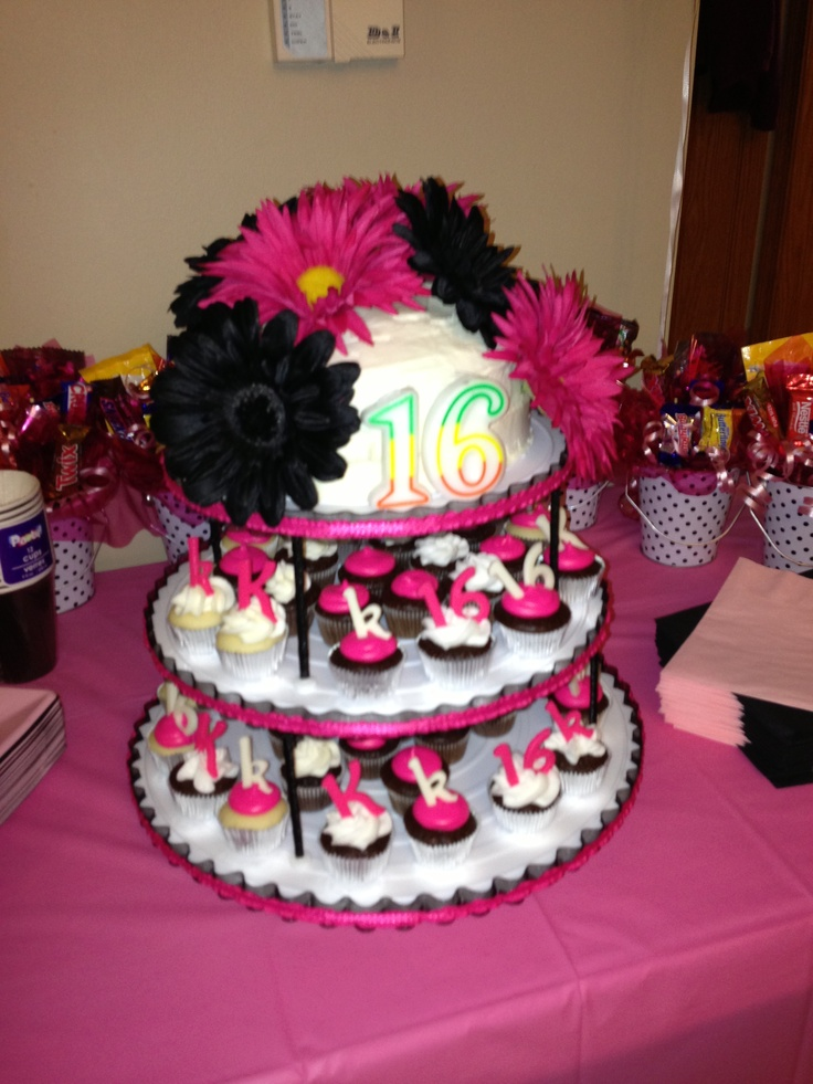 16th Birthday Cake And Cupcakes That S Right I Made